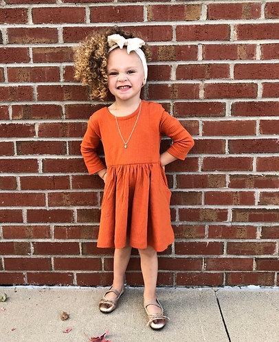 Orange spice dress