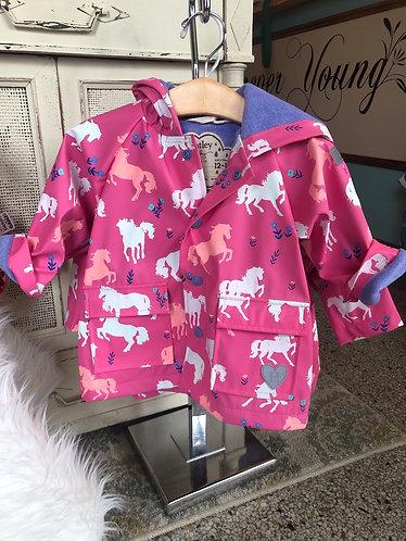 Hatley Horse Raincoat (color changing)