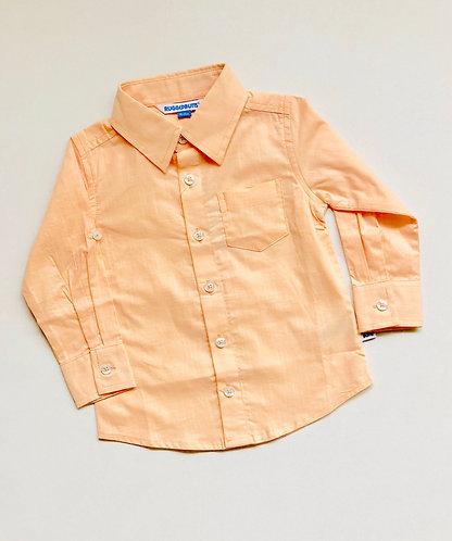 Peach button up