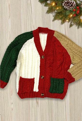 Tri-Color Sweater