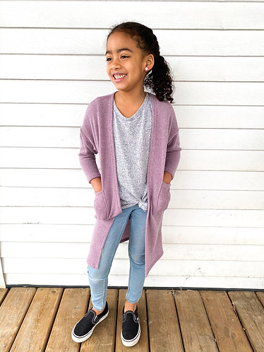 Purple Pocket Cardi