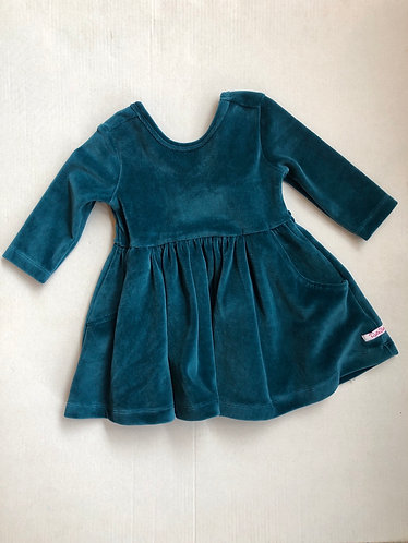 Velour Twirl dress