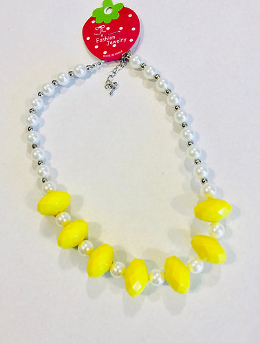 Yellow bobble necklace