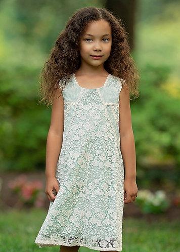 Pastel Lace Trim Dress