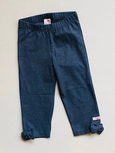 Faux Denim Capri