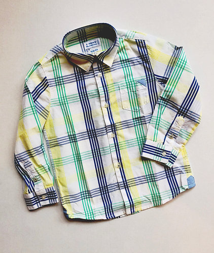 Spring stripe button up
