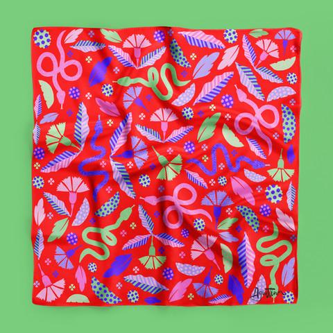 Mexican silk scarf
