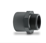 Straight connector converter threaded male to plain female