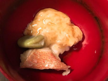 赤魚と空豆のじょうよ蒸し