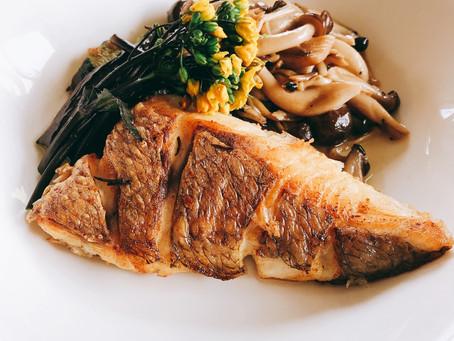 【半額節約レシピ】皮パリパリ鯛のポワレ