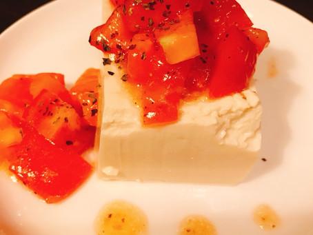 豆腐の梅肉カプレーゼ