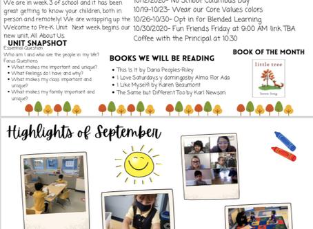 Pre-K October Newsletter