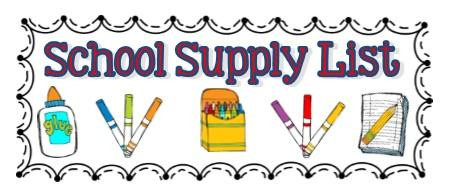 Supply Lists for the 2020-2021 School Year