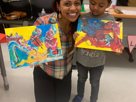 Our Kinder Kandinsky Paint Party!
