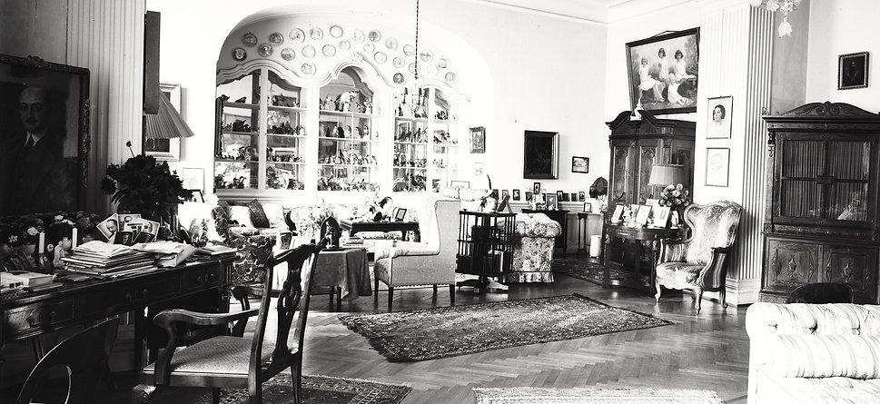 Wnętrza pałacu w Kopicach - gabinet hrabiego Hansa Ulricha