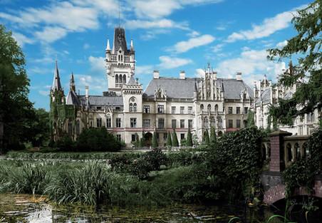 Strona wschodnia pałacu w Kopicach