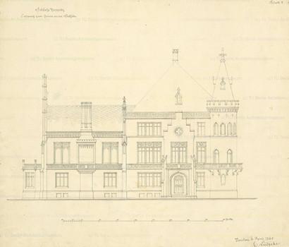 Plany przebudowy pałacu w Kopicach 1863