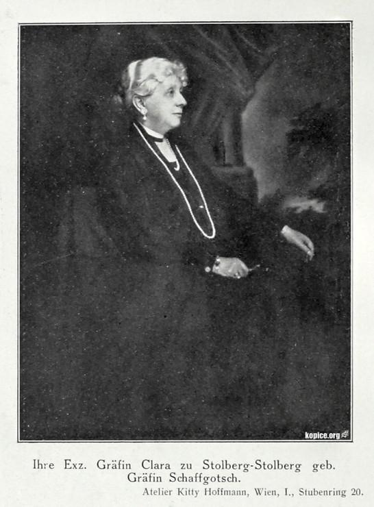 Gräfin Clara (Schaffgotsch) zu Stolberg-Stolberg w roku 1929.