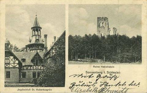 Ruine Habichstein - Sonnenberg in Schlesien
