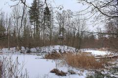Wzgórze Diany (Dianas Hügel) zimą