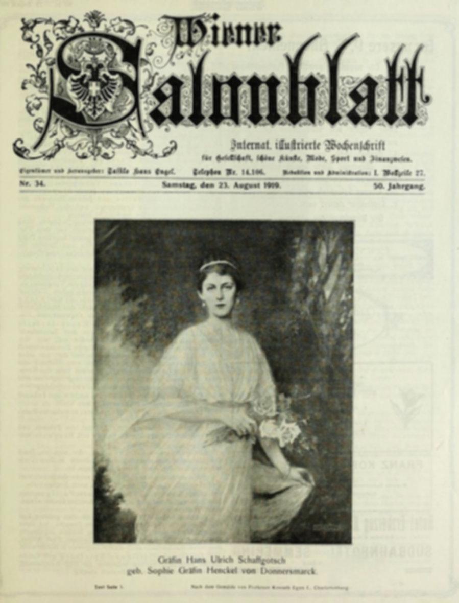 Wiener Salonblatt 1919 i portret hrabiny Sophie Henckel von Donnersmarck