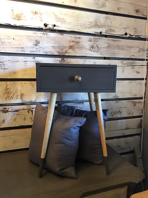 Modern dark grey nightstand