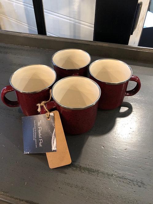 Set of 4 metal cups