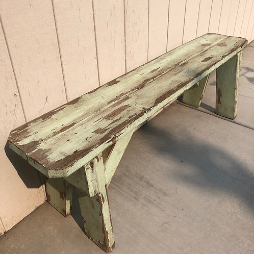 Pair of mint chippy benches