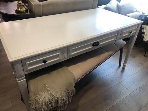 White Bombay table/desk