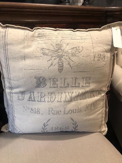 Large linen pillow
