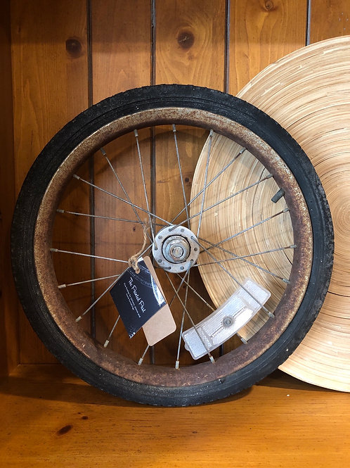 Old wheel decor