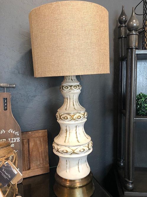 Rustic chunky lamp