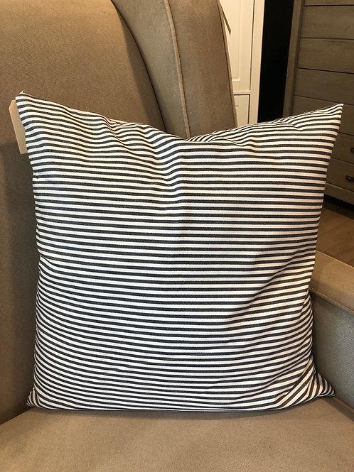 Black and white stripe pillow