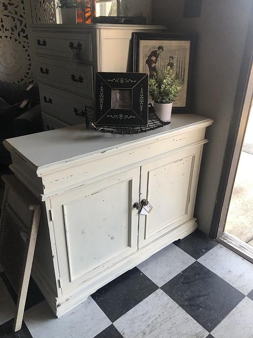 Rustic white cabinet