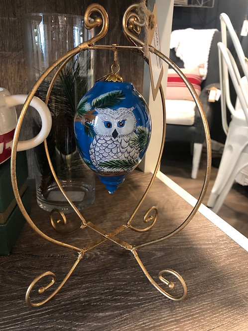 Owl ornament with stand