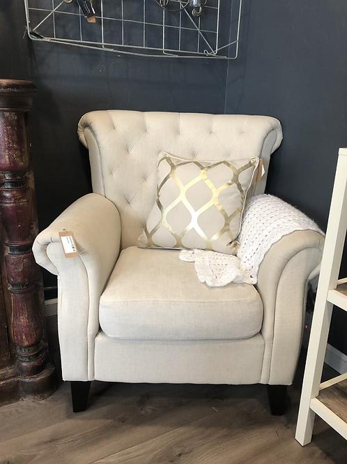 Cream linen chair