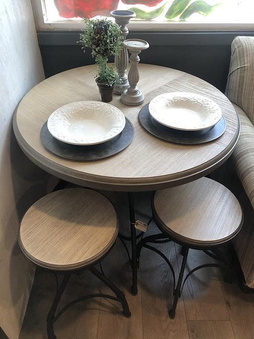 Adjustable industrial dining set