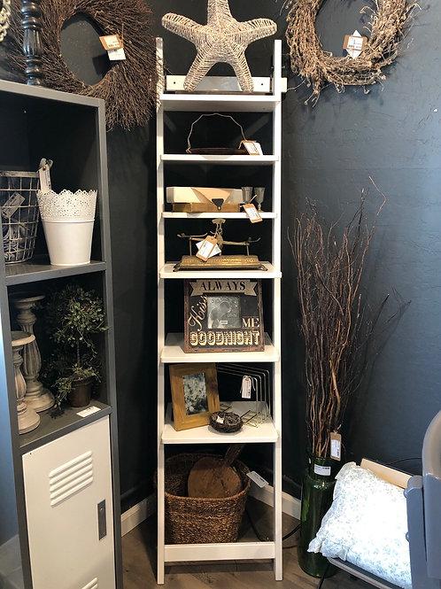 Skinny leaning shelf