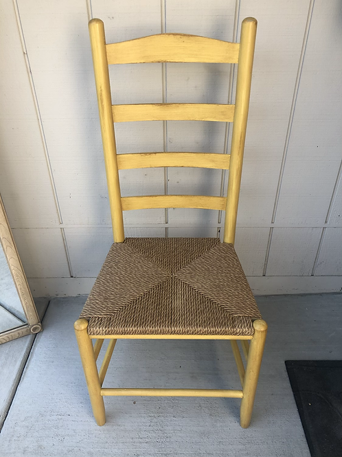 Rustic yellow chairs(pair)