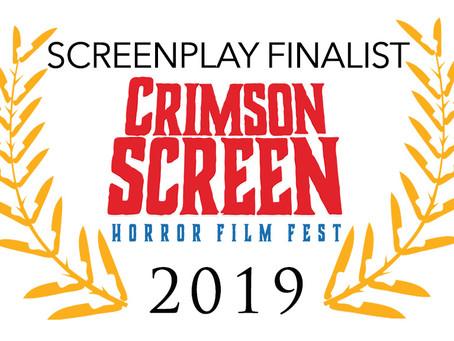 Night Terror Screenplay Finalist in 2019 Crimson Screen Horror Film Festival