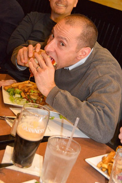 Aces devouring All Ireland Burger