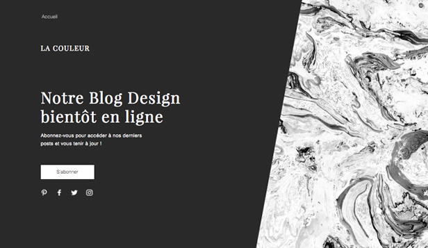 Landing Pages website templates – Blog à venir