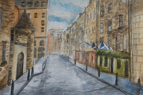 Down the mile, Edinburgh