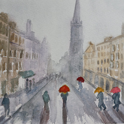 Rainy day in Edinburgh