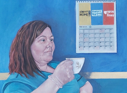 Portrait of an NHS hero.