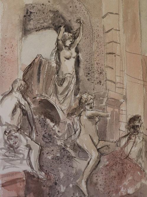Statues in Barcelona