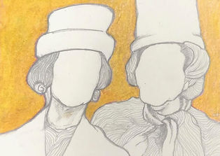 women with hats