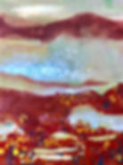 mixed media encaustic monoprint on rice paper