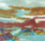 Passing Through, encaustic monotype on paper