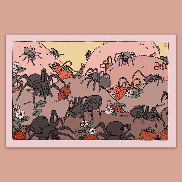 Spinnen & aardbeien